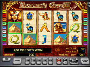 Автомат Pharaohs Gold III в казино Вулкан Удачи